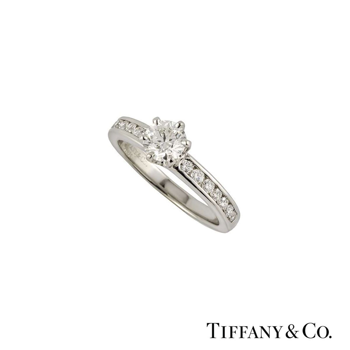 Tiffany & Co. The Tiffany Setting with Diamond Band Ring 0.33ct G/VS1